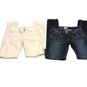 HUDSON Collin Mid-Rise Skinny Jean lot of 2